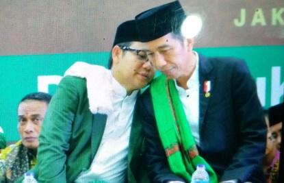 Cak Imin Bisiki Presiden Jokowi di #SilatnasUlamaRakyat / Foto Istimewa (Dok. Saiful Aiman @sfl_aimn)