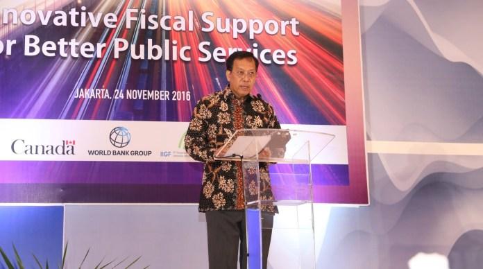 Direktur Jenderal Pengelolaan Pembiayaan dan Risiko Robert Pakpahan. Foto andika/Nusantaranews