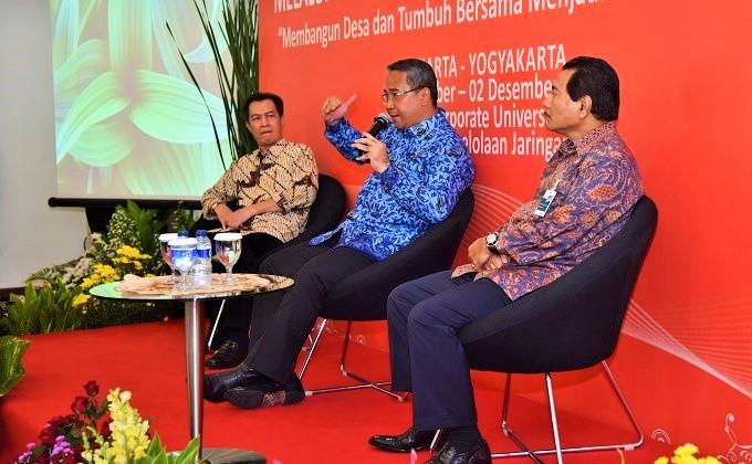 Mendes PDTT, Eko Sandjojo memberikan arahan pada Lokakarya Pengembangan Ekonomi Desa di BNI Corporate University Jakarta, Selasa (29/11/2016)/Foto: Dok. Humas KemendesPDTT (Dody)