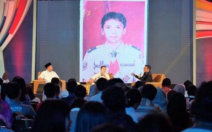 Gubernur Lampung Ridho Ficardo saat jadi bintang tamu salah satu Televisi Swasta Nasional, Rabu (2/11/2016)/Foto Hendra