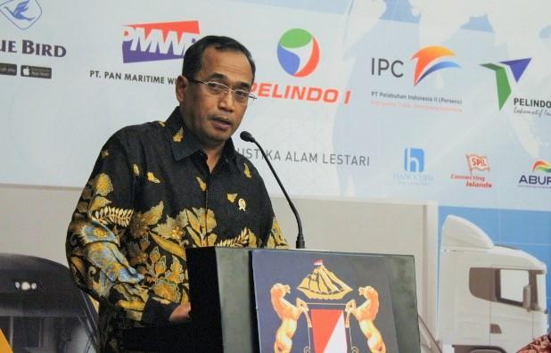 Menteri Perhubungan RI Budi Karya Sumadi saat Rapat Kerja Kadin di Graha Niaga, Jakarta, Rabu (16/11/2016)/Foto Andika / NUSANTARAnews