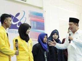 Menteri Riset, Teknologi, dan Pendidikan Tinggi (Menristekdikti) M Nasir saat di Gorontalo/Foto: dok. Humas KemenristekDikti