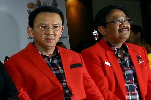 Pasangan Calong Gubernur DKI Jakarta, Ahok-Djarot. Foto via sindo