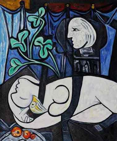"Lukisan ""Nude, Green Leaves and Bust"", (1932), Lukisan Termahal karya Pablo Picasso/Foto Istimewa (pablopicasso.org)"