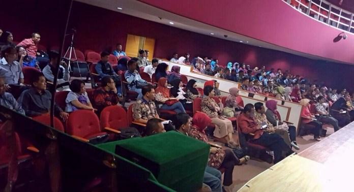 Acara seminar nasional di Kampus UNJ Rawamangun. Foto Eric/Nusantaranews