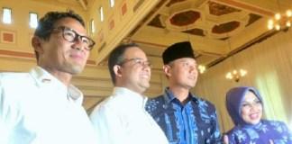 Paslon gubernur dan wakil gubernur Anies-Sandi dan Agus-Sylvi/Foto: Dok. Rappler