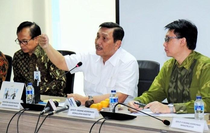 Menko Kemaritiman Luhut Binsar Pandjaitan dalam acara media briefing di Kantor Kementerian Koordinator Kemaritiman, Jakarta, Jumat (23/12)/Foto: Dok. Humas Menko Maritim