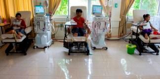Pasien Hemodialisa RST Dompet Dhuafa di Parung, Bogor (10/1)/Foto: TYN