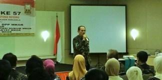 Ketua Umum MKGR Letjend (Purn) TNI Soeyono di Ultah MKGR Ke 57, Selasa (3/1/2017)/Foto Hatiem/NUSANTARAnews