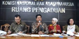 Ketua Komnas HAM, Imdadun Rahmat dalam Konferensi Pers, di Kantornya, Jakarta Pusat, Selasa, (17/1/2017)/Foto Fadilah/NUSANTARAnews