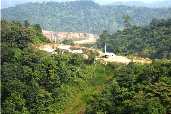 Lokasi Galian PT Bintang Cinda Mineral Group (BCMG). Foto Dok. Walhi Jabar
