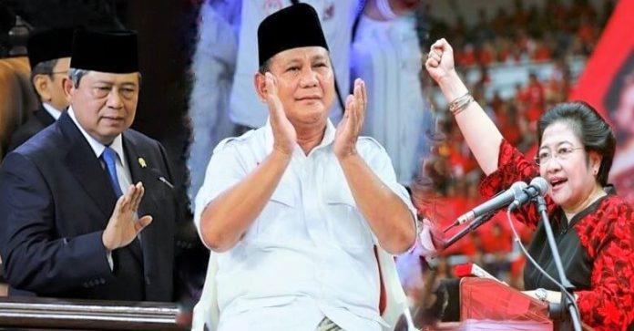 SBY - Prabowo - Megawati/ILustrasi Foto: NUSANTARAnews
