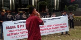 Aksi Demo Aliansi Masyarakat Konsel Menggugat di KPK. Foto Dok. Pribadi