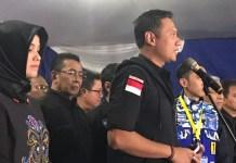 Annisa Pohan Tampak Pendampingi Agus Harimurti/Foto Fadilah/Nusantaranews