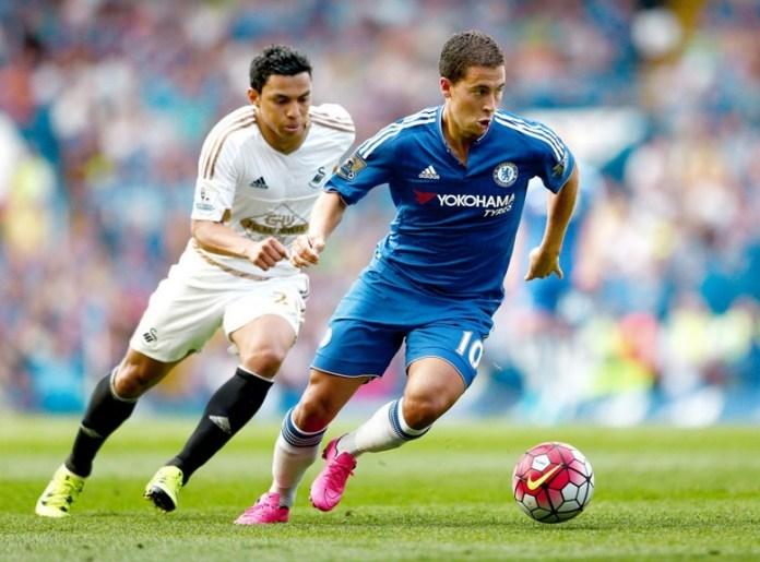 Hazard Saat Dibayang-Bayangi Pemain Swansea/Foto via todayonline