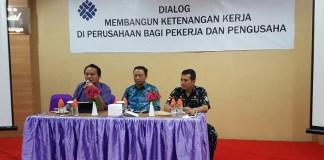 Presiden sarbumusi Saiful Bahri Anshory (Tengah) saat mengisi acara diskusi/Foto: Dok. Sarbumusi NU