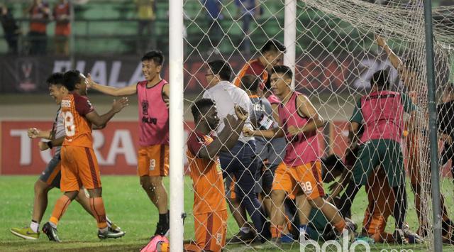 Punggawa Borneo FC Selebrasi Lolos Semi Final/Foto Istimewa