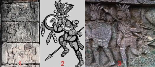 Salah satu relief yang terdapat pada candi penataran yang dikaitkan dengan prajurit suku Maya. Foto via kompasiana