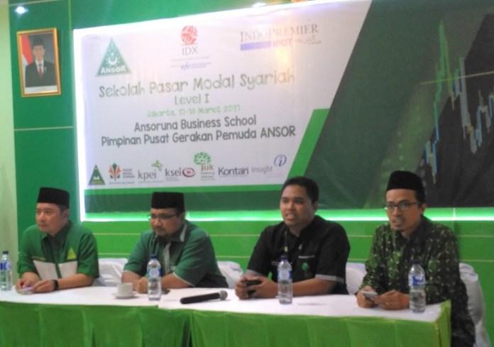 Ansoruna Bussines School GP Ansor gelar Sekolah pasar Modal Syariah/Foto Ucok/Nusantaranews