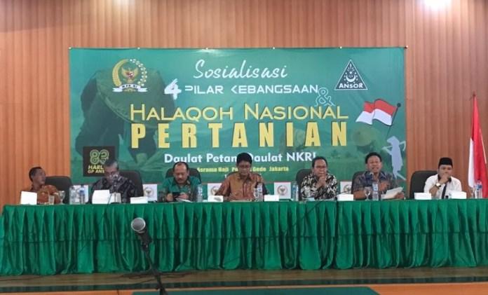 Halaqoh Nasional Pertanian di Hall Asrama Haji Pondok Gede Jakarta/Foto Ahmad Hatim/Nusantaranews