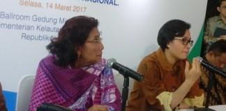 Menteri Keuangan (Menkeu) Sri Mulyani dan Menteri KKP Susi Pudjiastuti/Foto Andika/Nusantaranews