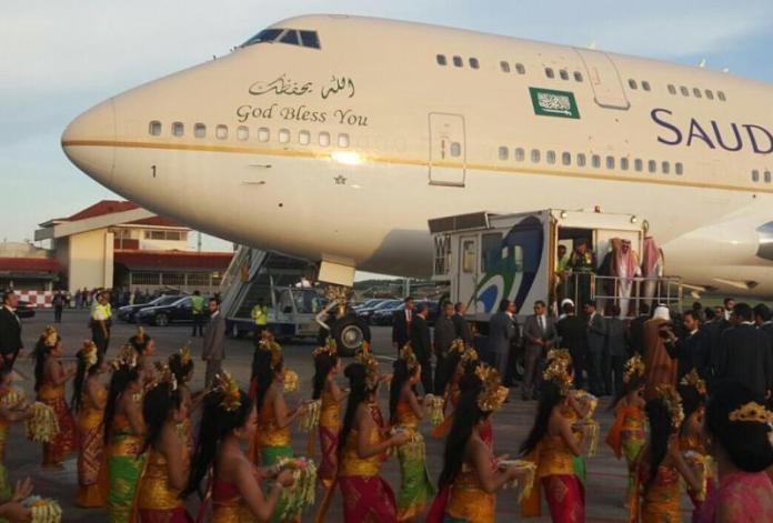 Raja Salman di Sambut Trian Pendet/Foto Istimewa/Nusantaranews