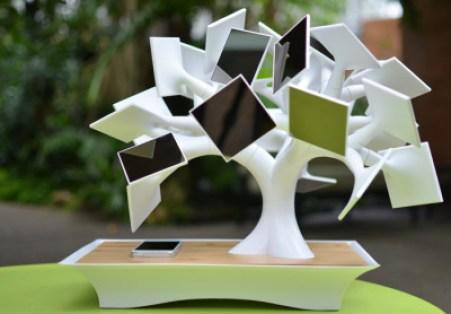 Electree atau Pohon Mini Penghasil Tenaga Surya/Foto via Techcrunch/Nusantaranews