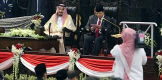 Pidato Ketua DPR Setya Novanto di Hadapan Raja Arab Minta Tambahan Kuota Haji/Foto: Dok. Poskotanews