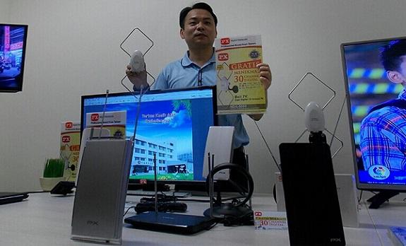 PX Ikuti Migrasi Antene TV dari Analog ke Digital. Foto Istimewa