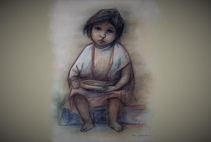Sad Child by Fanny Rabel | Art Brokerage/ NUSANTARAnews