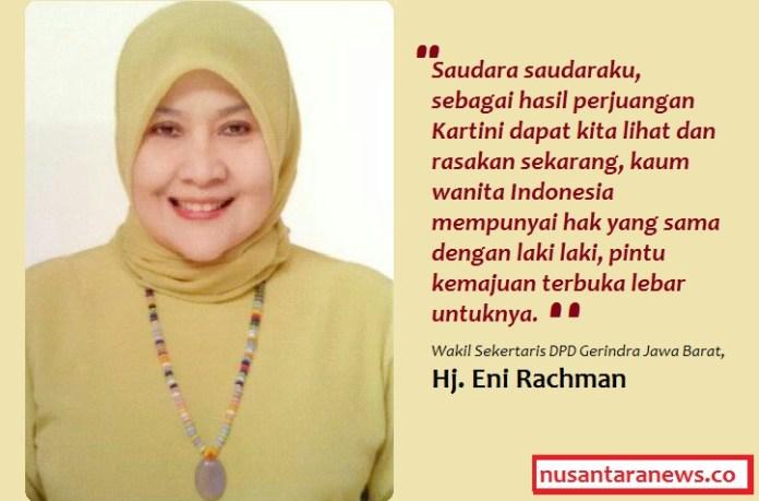 Wakil Sekertaris DPD Gerindra Jawa Barat, Hj. Eni Rachman. Foto ilustrasi: NUSANTARAnews