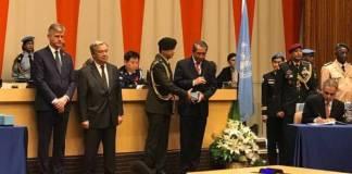 PBB Beri Penghargaan Medali Dag Hammarskjöld Kepada Praka Julius/Foto Dok. Kemlu/Nusantaranews