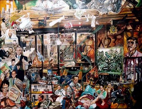 Bahtera kontroversi ketidakadilan menuju kemerdekaan (part-1 2004 ). By Tb Arief Z-art. lukisan cat minyak di kanvas 120 X 100 cm. Foto Istimewa