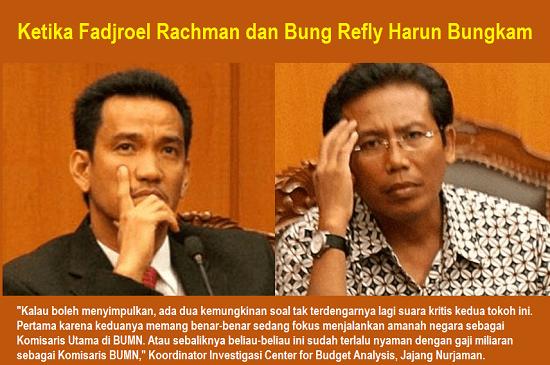 Ketika Fadjroel Rachman dan Bung Refly Harun Bungkam. Ilustrasi: NUSANTARAnews.co