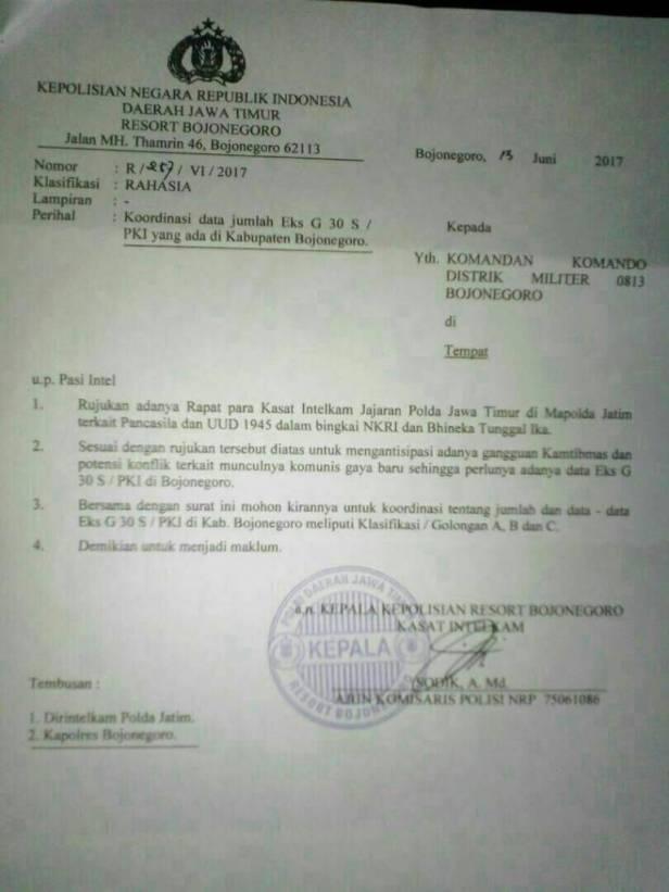 Surat Resort Bojonegoro