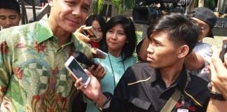 Gubernur Jawa Tengah (Jateng) Ganjar Pranowo di Gedung KPK, Jakarta Selatan, Selasa (4/7/2017). Foto Restu Fadilah/ NUSANTARAnews.co