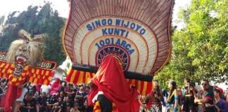 Penampilan Reog Singo Wijoyo, Desa Kunti, Bungkal, Ponorogo. (Foto: Muh Nurcholis)