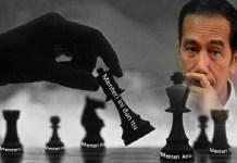 Ilustrasi Reshuffle kabinet Presiden Jokowi.