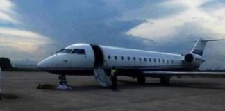 Pesawat jet jenis Bombardier Global 5000 milik Setya Novanto. (Foto: Dok. Istimewa)