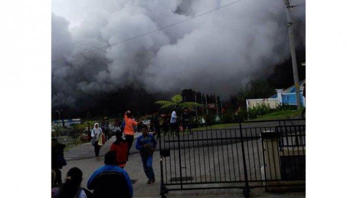 Letusan Kawah Sileri/Foto Istimewa/Nusantaranews