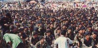 Pasukan inti Satkorcab Banser. Foto: Istimewa
