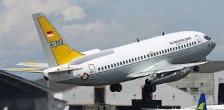 Pesawat intai strategis Boeing 737-200 'Camar Emas' milik Skadron Udara 5. Foto Ian Lim/ via jakartagreater.com