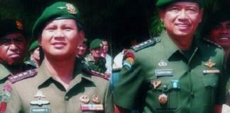 SBY dan Prabowo Ketika Masih Kolonel. Foto: Dok. Istimewa