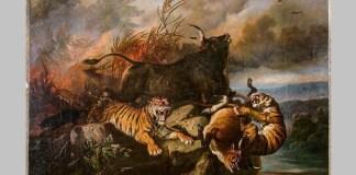 """Forest fire"" Lukisan Raden Saleh. Foto: Dok. Rob Scholte Museum"