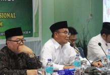 Mendikbud Muhadjir Effendy dalam rapat pleno bertajuk 'Kebijakan pendidikan Nasional dan kepentingan Umat Islam' dengan Dewan Pertimbangan MUI di kantor MUI Pusat, Jakarta, Rabu (23/8/2017). Foto Richard Andika/ NusantaraNews.co