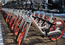 Bike-sharing dari Mobike/Foto via yimg/Nusantaranews