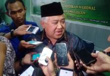 Ketua Dewan Pertimbangan Manjelis Ulama Indonesia (MUI), Din Syamsuddin. (Foto: Andika/Nusantaranews)