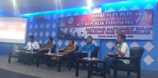 "Diskusi Publik bertajuk ""Partisipasi Masyarakat Dalam Perayaan Hari Kemerdekaan"" di Aula Gedung Pemuda KNPI Aceh (Lantai 3), Lam Priet, Banda Aceh, senin, 14 agustus 2017. Foto Najmi/ NusantaraNews.co"