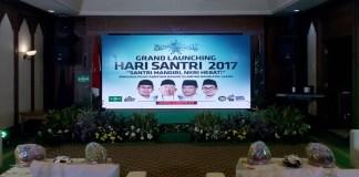 Acara Grand Launching Hari Santri 2019 di kantor PBNU, Jakarta Pusat, Kamis (10/8/2017) malam. Foto M Romandhon/ NUSANTARAnews.co