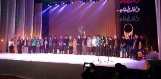 Foto Bersama para penyair nasional, pembaca puisi dalam acara Doa untuk Palestina yang dihadiri Dubes Palestina untuk Indonesia, Graha Bhkati Budaya, Kamis (24/8/2017) malam. Foto Ach. Sulaiman/ NusantaraNews.co